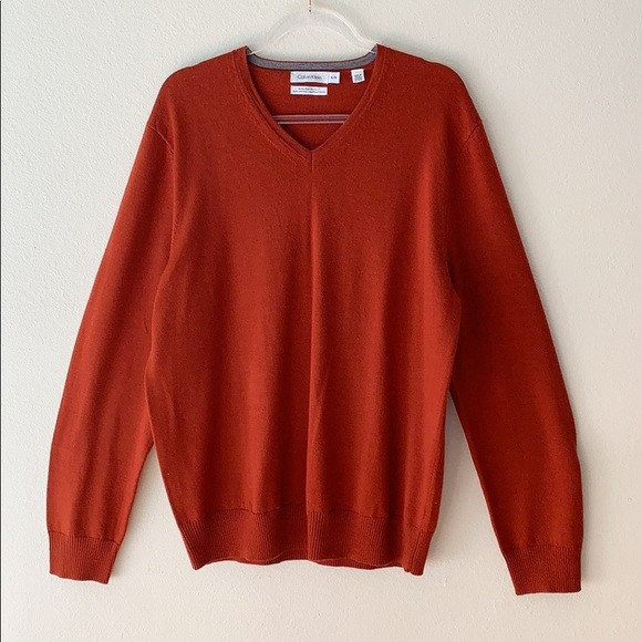 Calvin Klein Other - Calvin Klein Fine Merino V Neck Sweater Size XL